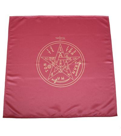 Magický obrus Tetragrammaton 80x80 bordový