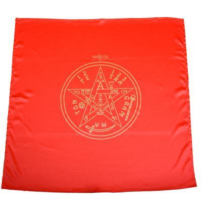 Magický obrus Tetragrammaton 80x80 červený