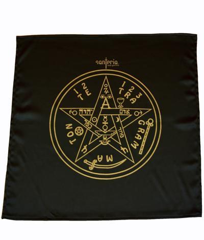 Magický obrus Tetragrammaton 60x60 cm čierny