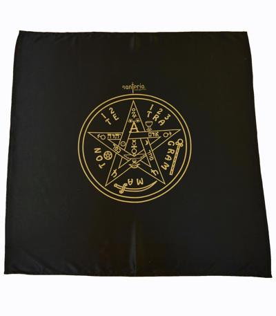 Magický obrus Tetragrammaton 80x80 cm čierny