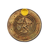 Stojan Pentagram v dvojitom kruhu