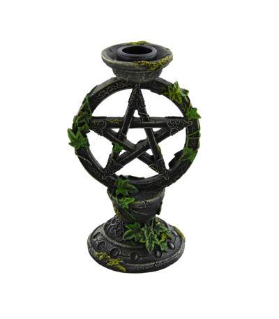 Oltárny svietnik s pentagramom